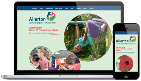 Allerton CE Primary School responsive website design
