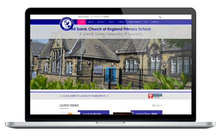 All Saint's CofE Bradford responsive website design