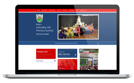 Asfordby Hill Primary School responsive website design