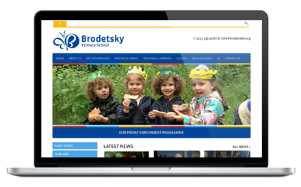 Brodetsky Primary School responsive website design