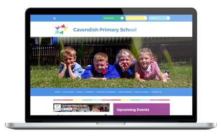 Cavendish Primary School responsive website design