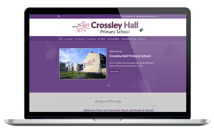 Crossley Hall Primary School responsive website design