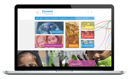 Exceed Academies Trust responsive website design