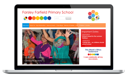 Farsley Farfield Primary School responsive website design