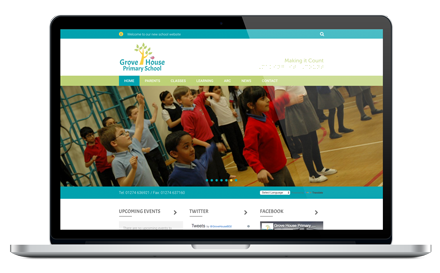 Grove House Primary School responsive website design