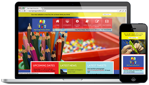 High Crags Primary School responsive website design