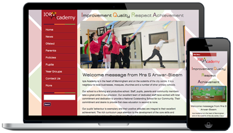 IQRA Academy responsive website design