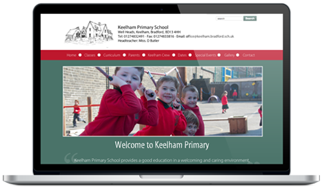 Keelham Primary School website design