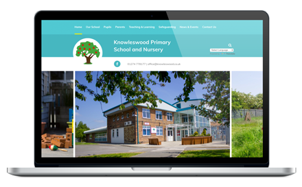 Knowleswood Primary School responsive website design