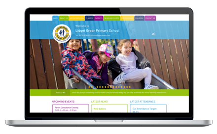 Lidget Green Primary School responsive website design
