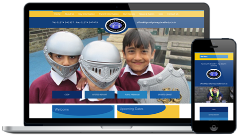 Lilycroft Primary School responsive website design