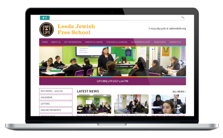 Leeds Jewish Free School responsive website design