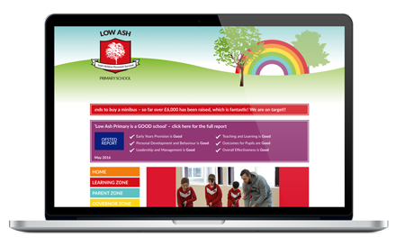 Low Ash Primary School responsive website design