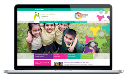 Margaret McMillan Primary School responsive website design
