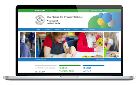 Oxenhope CE Primary School responsive website design