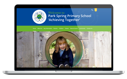 Park Spring Primary School responsive website design