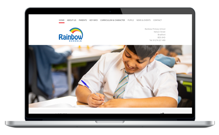 Rainbow Primary School responsive website design