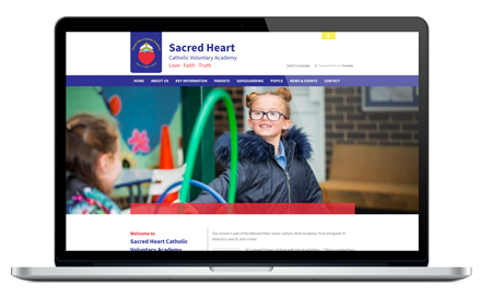 Sacred Heart Catholic Academy responsive website design