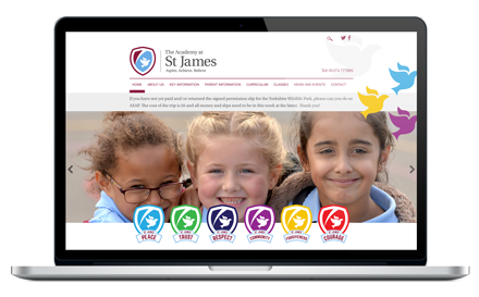 The Academy at St James responsive website design