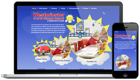 Westminster Primary School responsive website design
