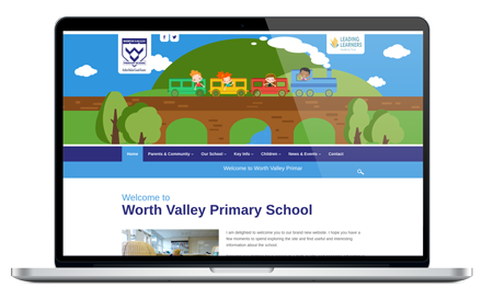 Worth Valley Primary School responsive website design