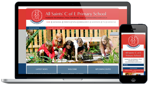 All Saints Primary School responsive website design