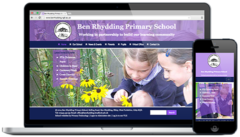 Ben Rhydding Primary School responsive website design