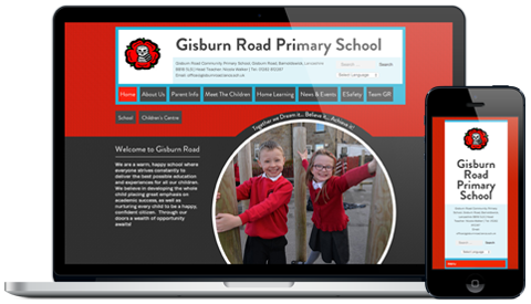 Gisburn Road Community Primary School responsive website design