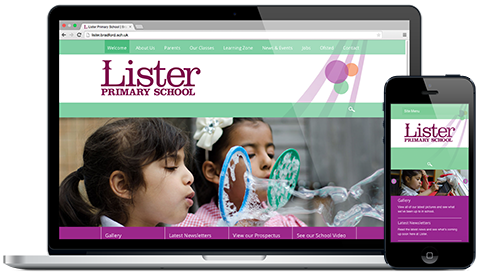 Lister Primary responsive website design