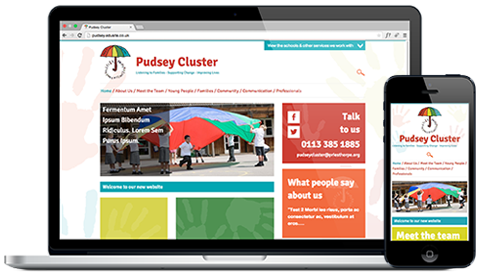 Pudsey Cluster responsive website design and build